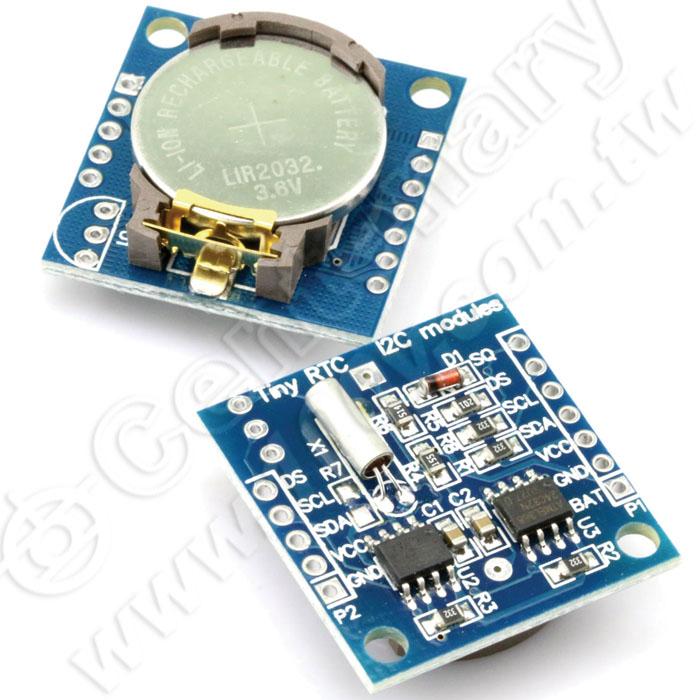 i2c eeprom 记忆体采用lir2032 可充电锂电池,并带充电电路解决ds1307