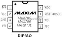 MAX813LCPA+