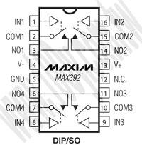 MAX392CPE+