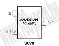 MAX6034AEXR25+