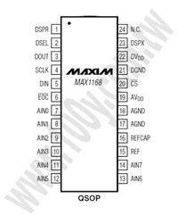 MAX1168BEEG+