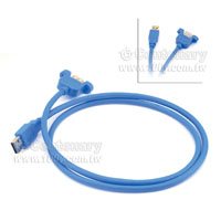 USB3.0-A(M/F)+耳朵-2M