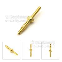 裸露香蕉插頭-2mm/M2*10-燈籠型六角鍍金