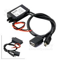 12V轉5V/3A+USB+MINIP5接口