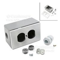 兩位鋁合面板+鋁底盒-116*70