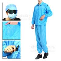 防靜電分體衣服-藍色-L