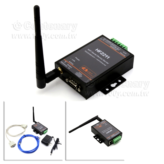 dtu-h100 rs485/rs232 转rj45 wifi 114179