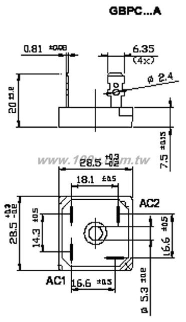 VS-GBPC3508A Vishay Bridge Rectifier 35A 800V