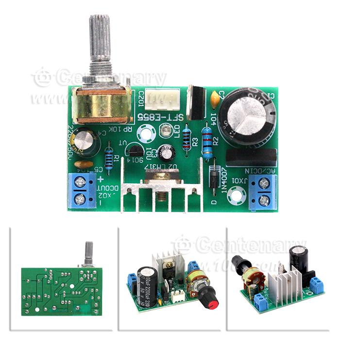 lm317电源调压板带保护