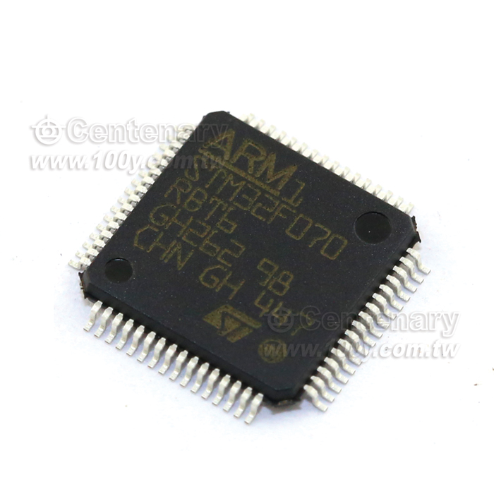 MCU 32-bit ARM Cortex M0 RISC 128KB Flash 2.5V//3.3V 64-Pin LQFP Tray 10 Items STM32F070RBT6