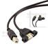 USB2.0-B(M)-A(F)+耳孔-0.5M