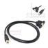 USB2.0-B(M/F)+耳朵-0.5M