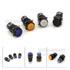 LA16-11M-AB6Y-M 16mm-黑色-铜触点